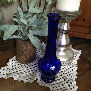 None Accents - COPY - Vintage Cobalt Small Vase